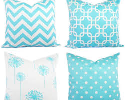 light blue accent pillows mint pillow covers mint green and white throw pillows decorative