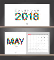 Flat Desk Calendar May 2018 Calendar Desk Calendar Modern Design Template With Paper