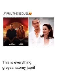Jesse Williams Memes - japril the sequel jesse sarah drew williams this is everything