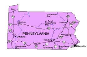 pennsylvania state map pennsylvania us state powerpoint map highways waterways capital