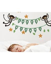 wee gallery wall sticker graphics monkey banner movable unisex wee gallery wall sticker graphics monkey banner movable stickers