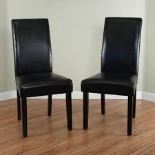 Black Dining Chairs Monsoon Villa Faux Leather Black Dining Chairs Set Of 2