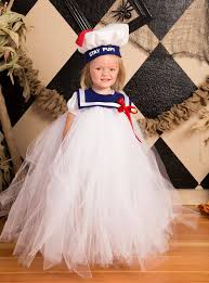stay puft marshmallow tutu dress hat and collar made from