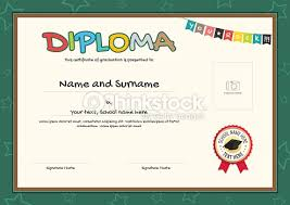 colorful diploma certificate template for kids in vector vector