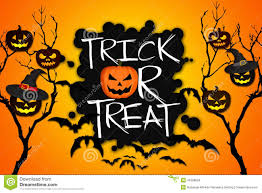 free digital background halloween trick or treat tree halloween pumpkins bats orange background
