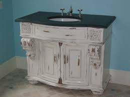 round bathroom vanity cabinets small shabby chic whitewashed wood bathroom vanity with black
