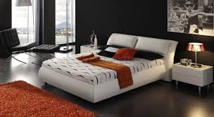 Modern Beds With Storage White Leather Headboard Contemporary Bed W Pull Up Storage