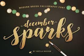 calligraphy font modern brush calligraphy font december font bundles