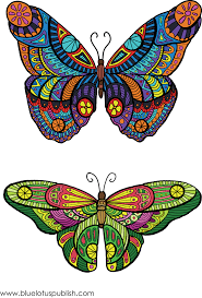 coloring book butterfly designs and patterns for stress