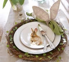 easter napkin rings burlap bunny ear napkin ring set of 4 pottery barn
