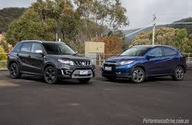 2016 suzuki vitara turbo vs honda hr v small suv comparison