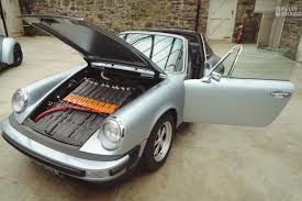 new porsche electric a tesla battery pack mutes this classic porsche 911 u0027s flat six engine