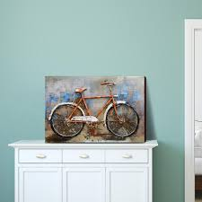 the bicycle 3d metal 100 handmade metal unique wall ash