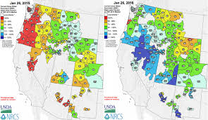 Oregon Drought Map by Western Snowpack Update January 2016