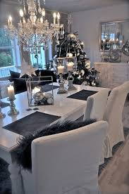 love it black white grey christmas and dining room http www