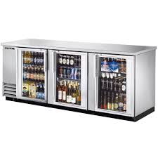 bar back fridge 538l beer bar back counter horizontal mini