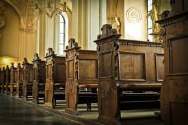 brown wooden church pew free stock photo