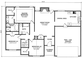 2 bedroom ranch floor plans ranch style house plan 3 beds 2 00 baths 1475 sq ft plan 412 107