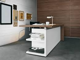 bureau en bois design bureau design bois et blanc bureau blanc simple lepolyglotte