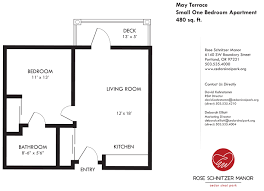 Gallery Floor Plans by One Bedroom Floor Plan With Design Gallery 57052 Fujizaki
