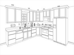restaurant kitchen drawing interior design