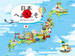 attractive japan travel map design welcome to japan in japanese
