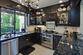 gray cabinets with black countertops black kitchen cabinets with black countertops rapflava