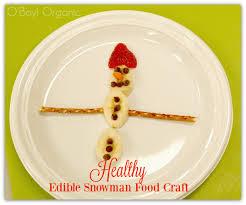 healthy edible snowman food craft with bananas kids stuff