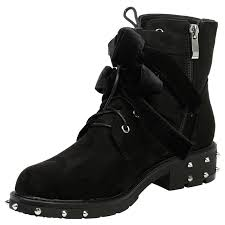 womens motorcycle boots hunter womens flats low heels studded ankle boots ladies ribbon