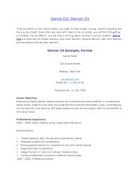 Aerobics Instructor Resume Samples Dance Resume Sample Resume Cv Cover Letter