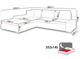 dimensions canapé dimension canape d angle