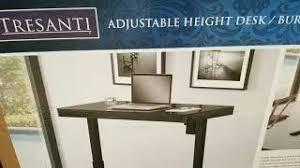 tresanti sit to stand power height adjustable tech desk tresanti tech desk