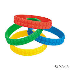 bracelet rubber images Color brick party rubber bracelets