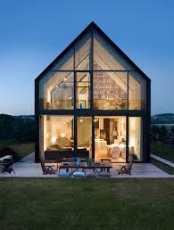modern glass houses pole can house near cracow architect ola wołczyk perłak