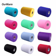 tulle rolls ourwarm 91m fabric tulle rolls spool for wedding decoration