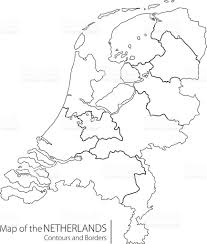 Map Of The Netherlands Contour Netherlands Map Stock Vector Art 577949546 Istock