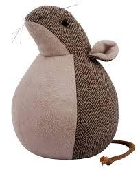Animal Home Decor by Mouse Door Stop Stopper Herringbone Tweed Faux Suede Animal