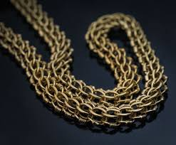 gold braided chain necklace images Antique russian imperial era 80 quot long gold braided necklace jpg