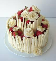 strawberries cream birthday cake kickass cakes