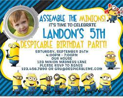 minion birthday party invitations minion birthday party