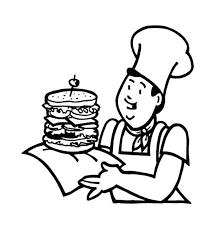fast food the big burger junk food coloring page download
