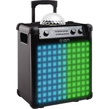 ion portable speaker system with party lights ion audio party rocker max wireless speaker party rocker max