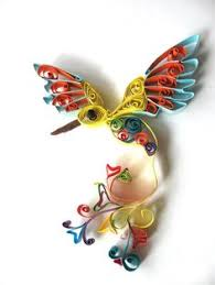 paper quilling kraft bird ornament keepsakechristmas quilling