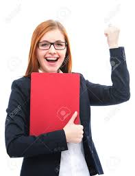 for a job interview happy young candidate holding files for a job interview stock
