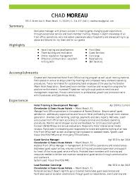 Hotel Front Desk Resume Examples by Chad Moreau Resume