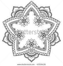 henna tattoo mandala mehndi style pattern stock vector 472534135