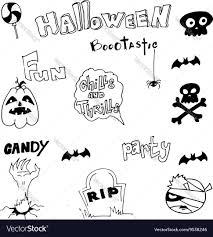 hand draw halloween doodle cute royalty free vector image