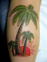 61 amazing palm tree tattoos