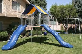 swing set equipment and backyard playgrounds