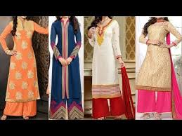 kurti pattern for fat ladies latest designs of long kurti with plazo designs fashion 2017 youtube